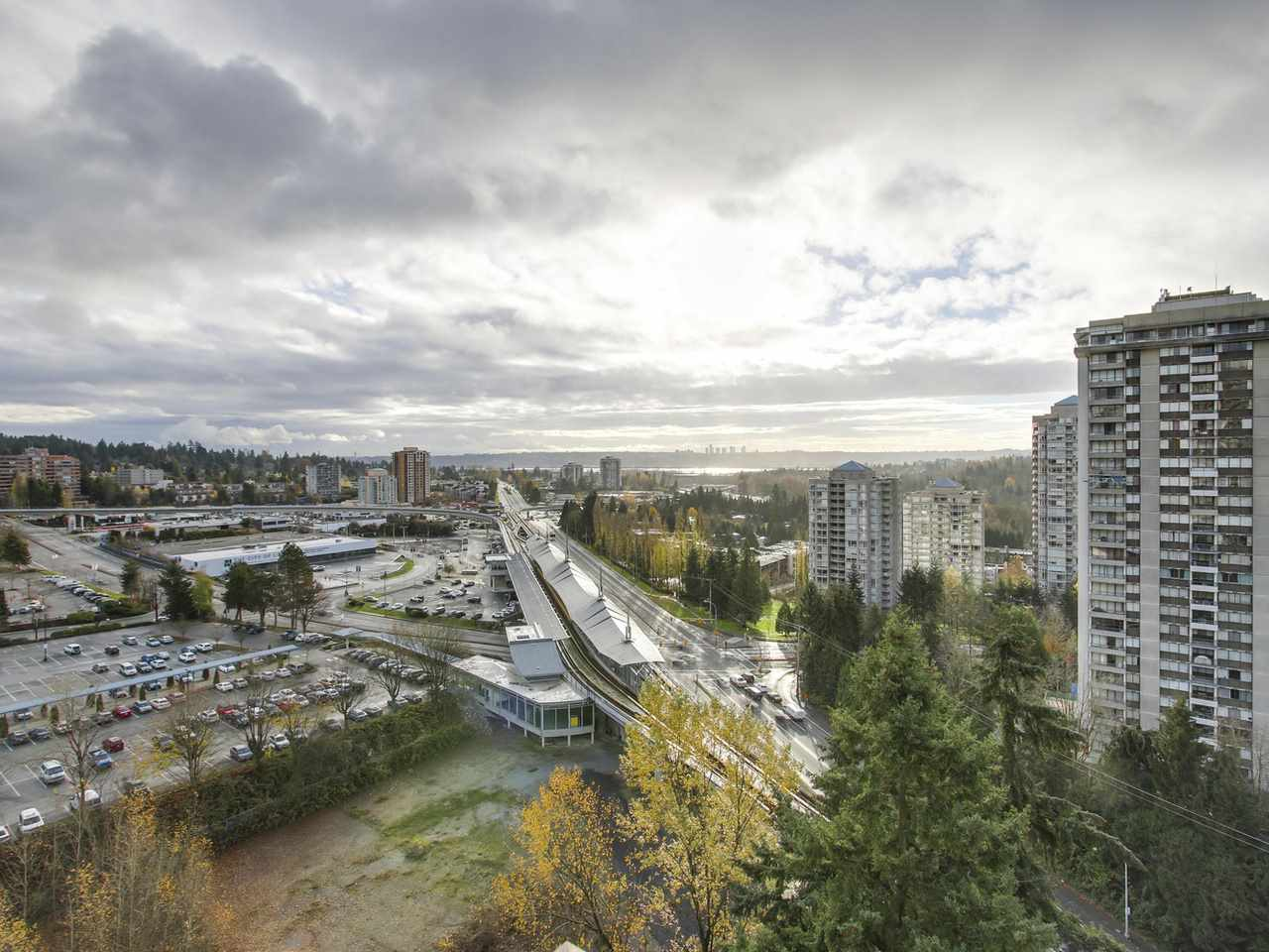 burnaby condos and skytrain view