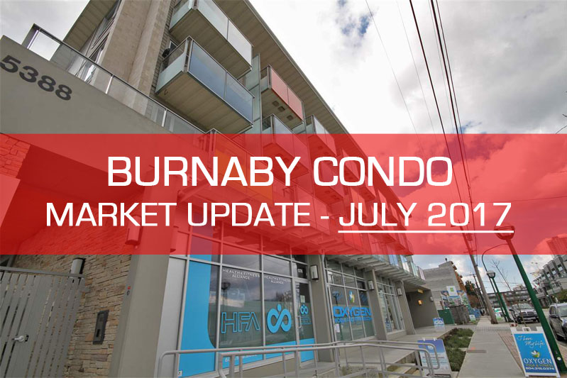 Burnaby condo market update for July 2017