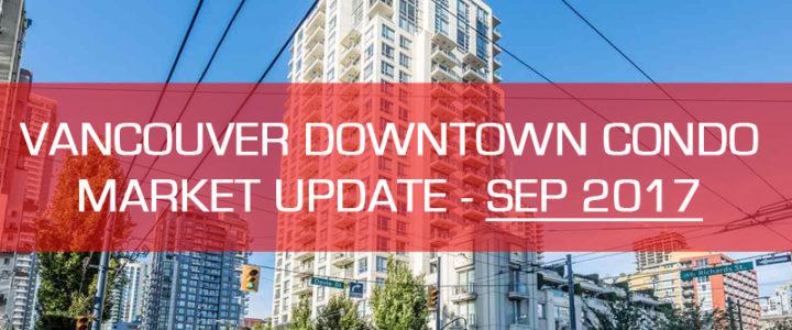 Downtown Vancouver Condo Market Update – September 2017 (1 bedroom)